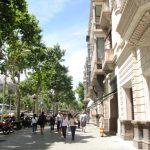 Su e giù perPasseig de Gràcia la grande via di Barcellona