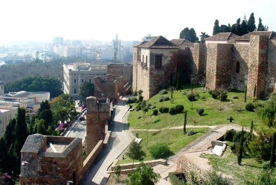 Malaga la fortezza Alcazaba