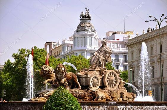 Fontana di Cibeles a Madrid