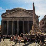 Roma. Lo spettacolare oculus del Pantheon