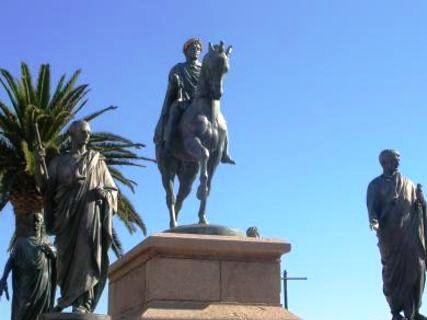 Ajaccio statua di Napoleone
