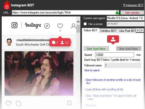 Un bot Instagram per followers, like e commenti