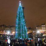 Natale a Londra: l'albero a Trafalgar Square