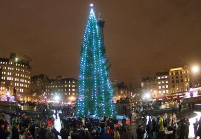 Natale a Londra albero a Trafalgar Square
