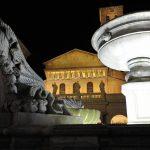 Roma. Basilica di Santa Maria in Trastevere nuova illuminazione artistica