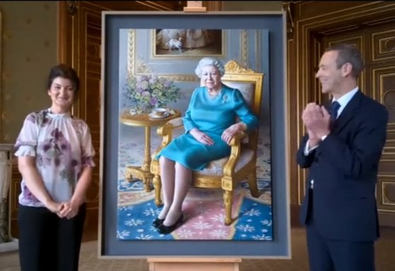 ritratto regina Elisabetta II