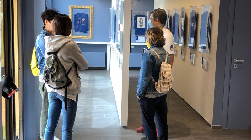 un momento di un tour al Museo del Calcio